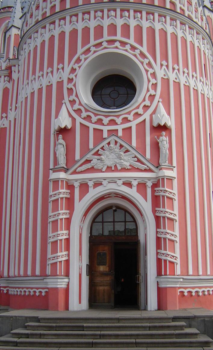 Чесменская церковь - Главный вход, источник фото: Wikimedia Commons, Автор: Vladi S