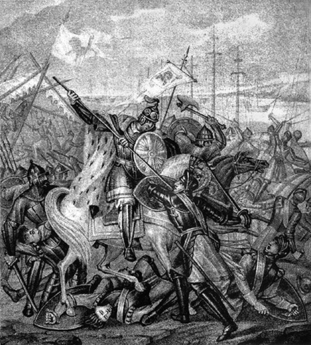 Б. А. Чориков. Александр Невский в битве со шведскими войсками. Фото: Ghirlandajo