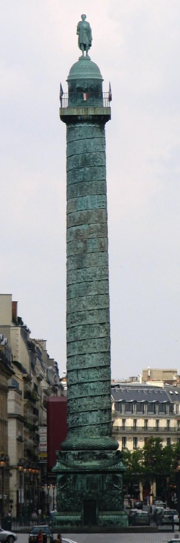Вандомская колонна в Париже — памятник Наполеону. Автор фото: User:Popolon (Wikimedia Commons)