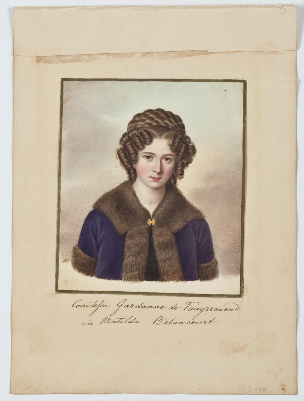 Матильда Агустиновна Бетанкур, дочь испанца А. А. Бетанкура и Молина, жена французского офицера графа Гарданна, 1820-1830 гг. Автор: Brian Searby or anonymous