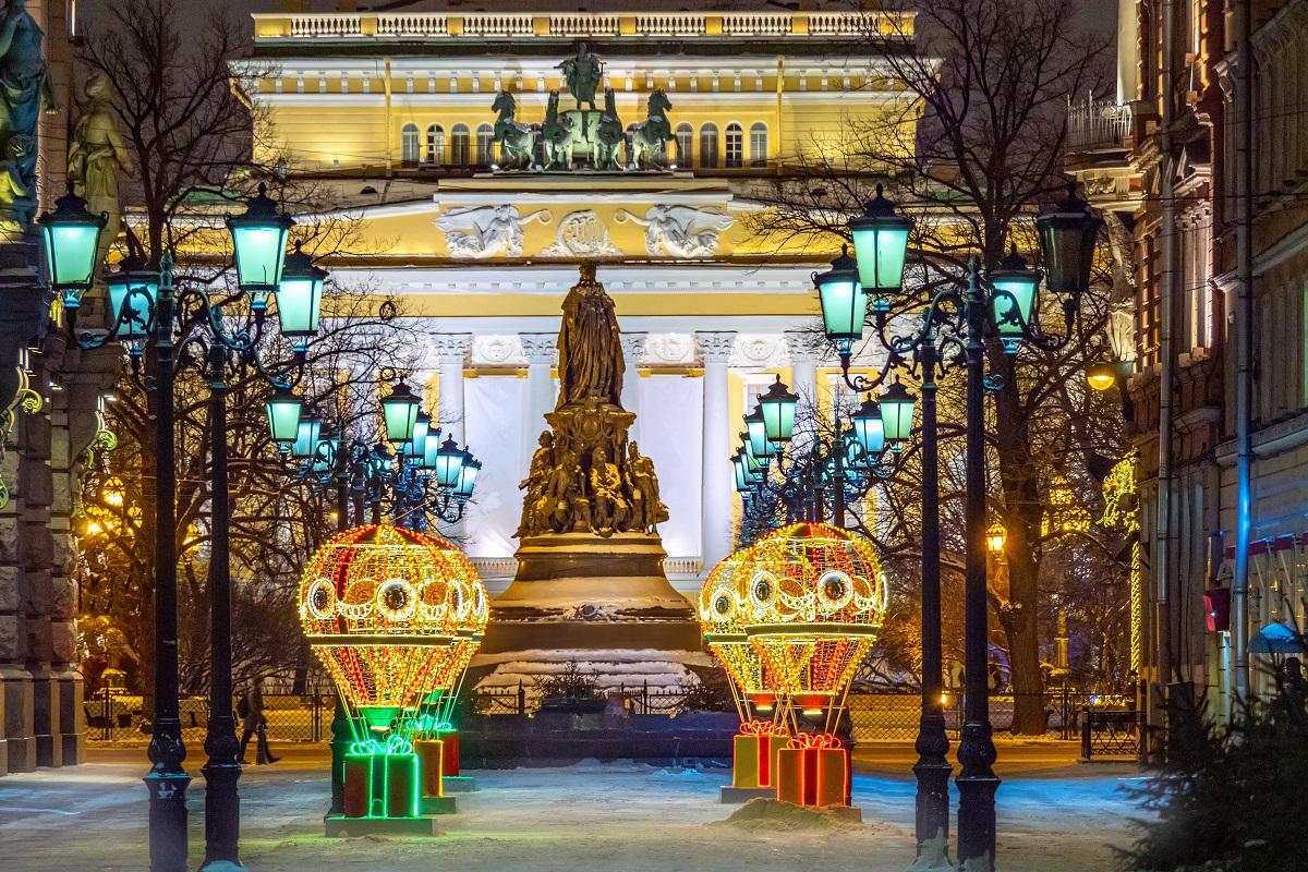 Рождественские украшения Санкт-Петербурга