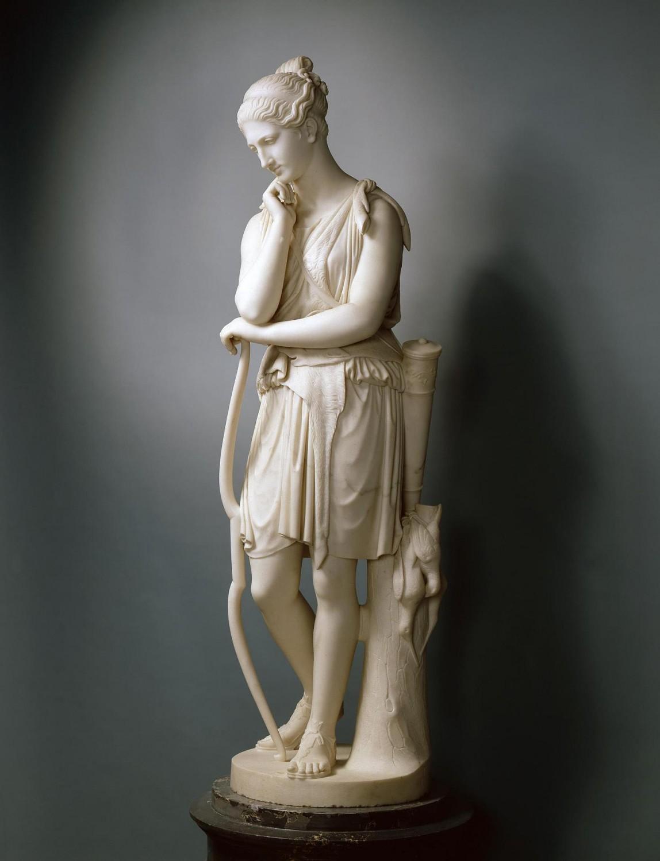 """""""Диана, отдыхающая после охоты"""", Эмиль Вольф, источник фото: http://www.hermitagemuseum.org/wps/portal/hermitage/digital-collection/06.%20Sculpture/50641"""