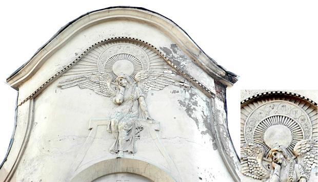 Доходный дом П. Т. Бадаева. Печальный ангел. Фото: Mary, 2008 г. (citywalls.ru)