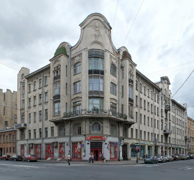 Доходный дом П. Т. Бадаева. До реставрации. Фото: citywalls.ru