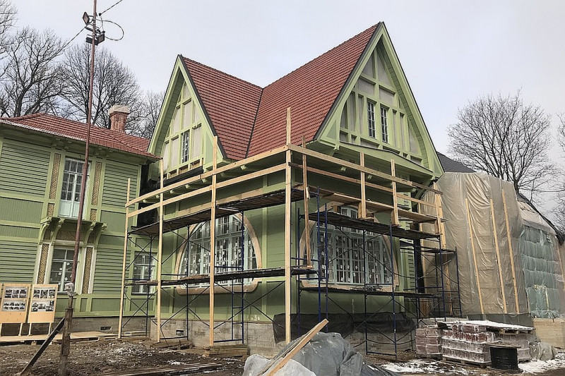 Дача Гаусвальда или Дом Ирэн Адлер во время реставрации 2019