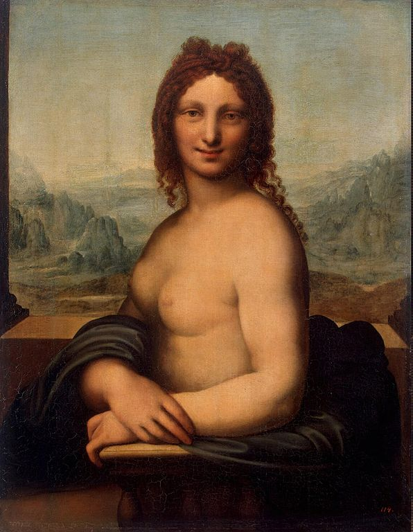 """""""Донна Нуда"""" — один из дюжины леонардесков, которые в XVIII—XIX вв. приобретались для Эрмитажа как произведения Леонардо да Винчи. (Wikimedia Commons)"""