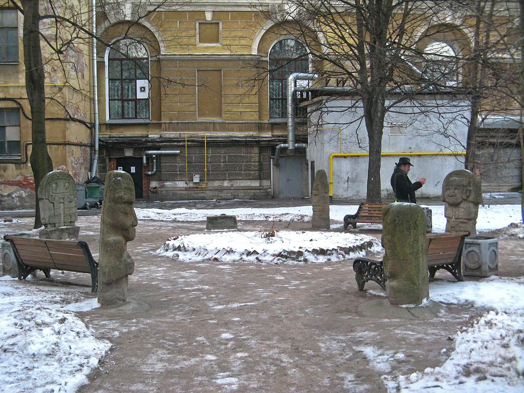 Двор Кунсткамеры. Фото: Екатерина Борисова (Wikimedia Commons)
