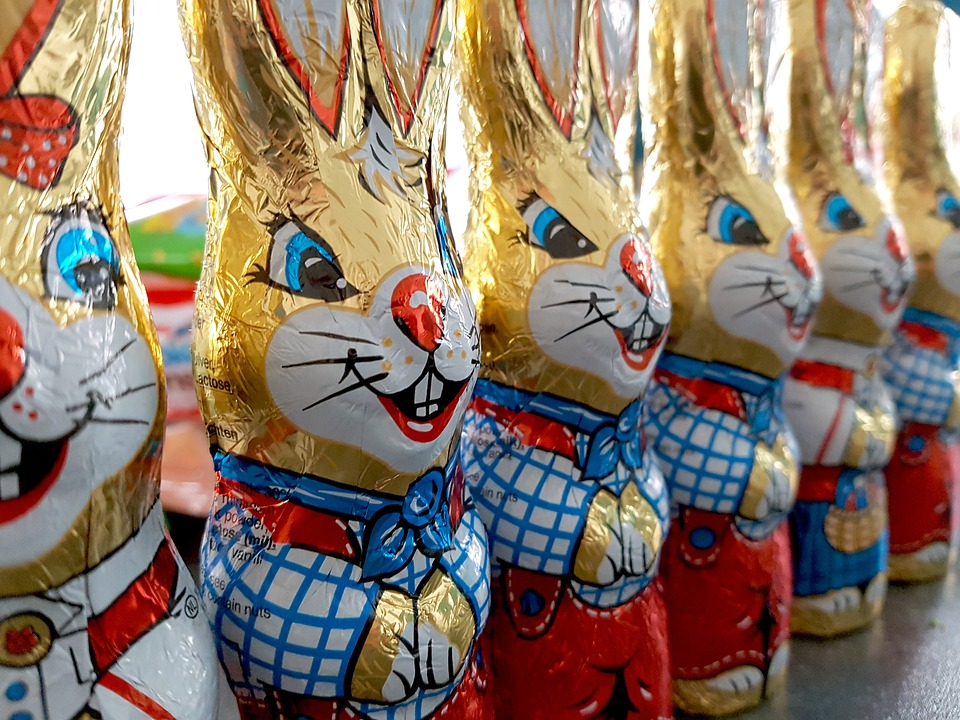 Пасхальные шоколадные зайцы. Фото: pixabay.com