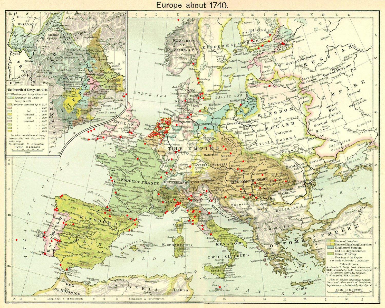 Подробная карта расположения фортов в виде звезды, разбросанных по всей Европе