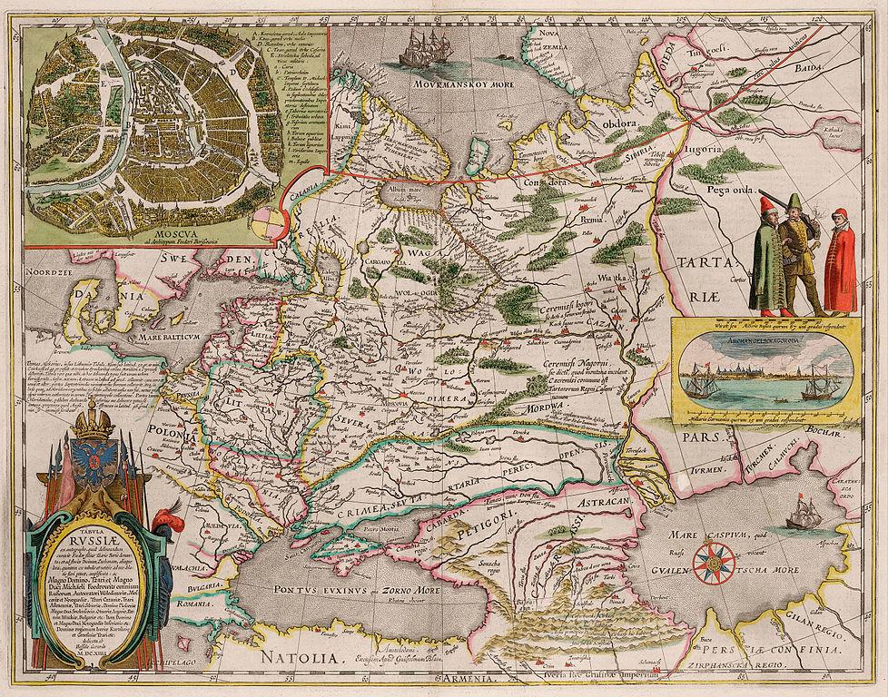 Карта России Гесселя Герритса (основанная на чертёже Фёдора Годунова)