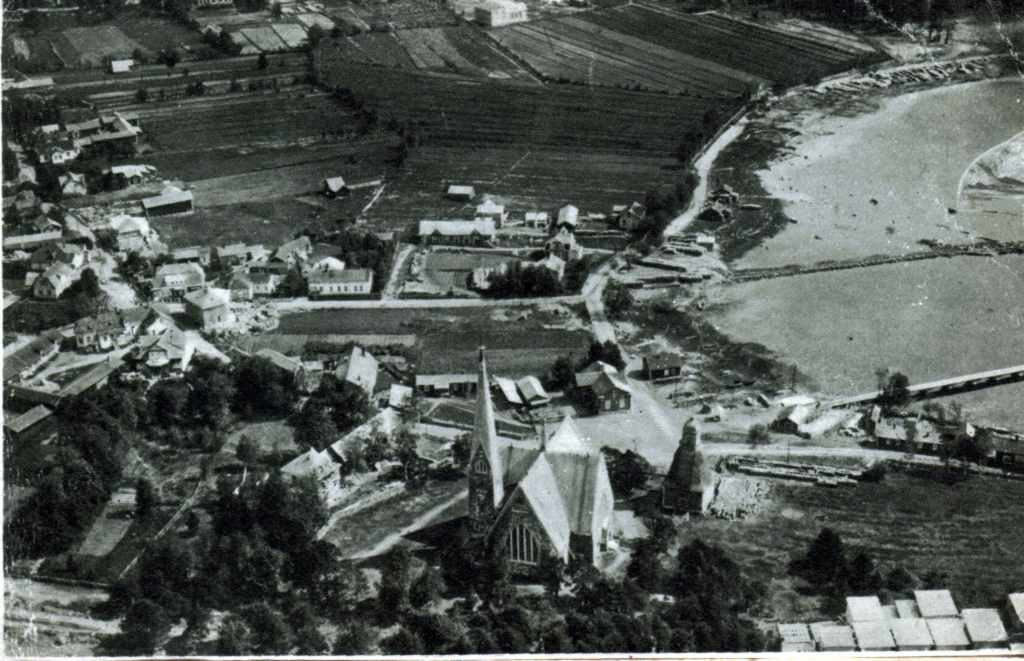Aerial photo of the Koivisto town, in the Eastern Finland in the year 1934
