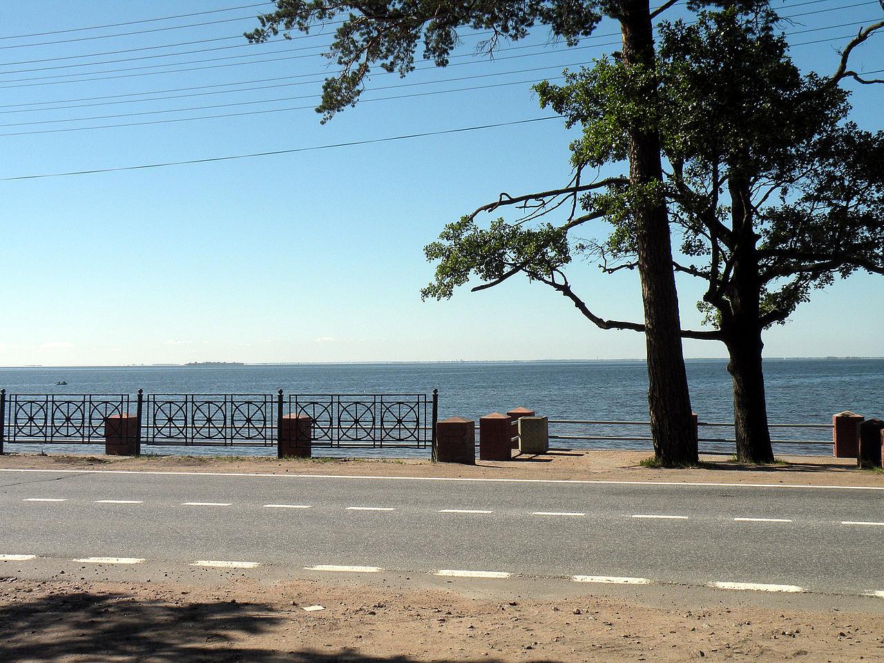 Вид на форт Тотлебен с Приморского шоссе. Автор фото: Витольд Муратов (Wikimedia Commons)
