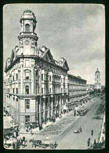Открытка с видом Загородного проспекта от Пяти углов, 1910 г., автор неизвестен. Автор: Rubinbot, Wikimedia Commons