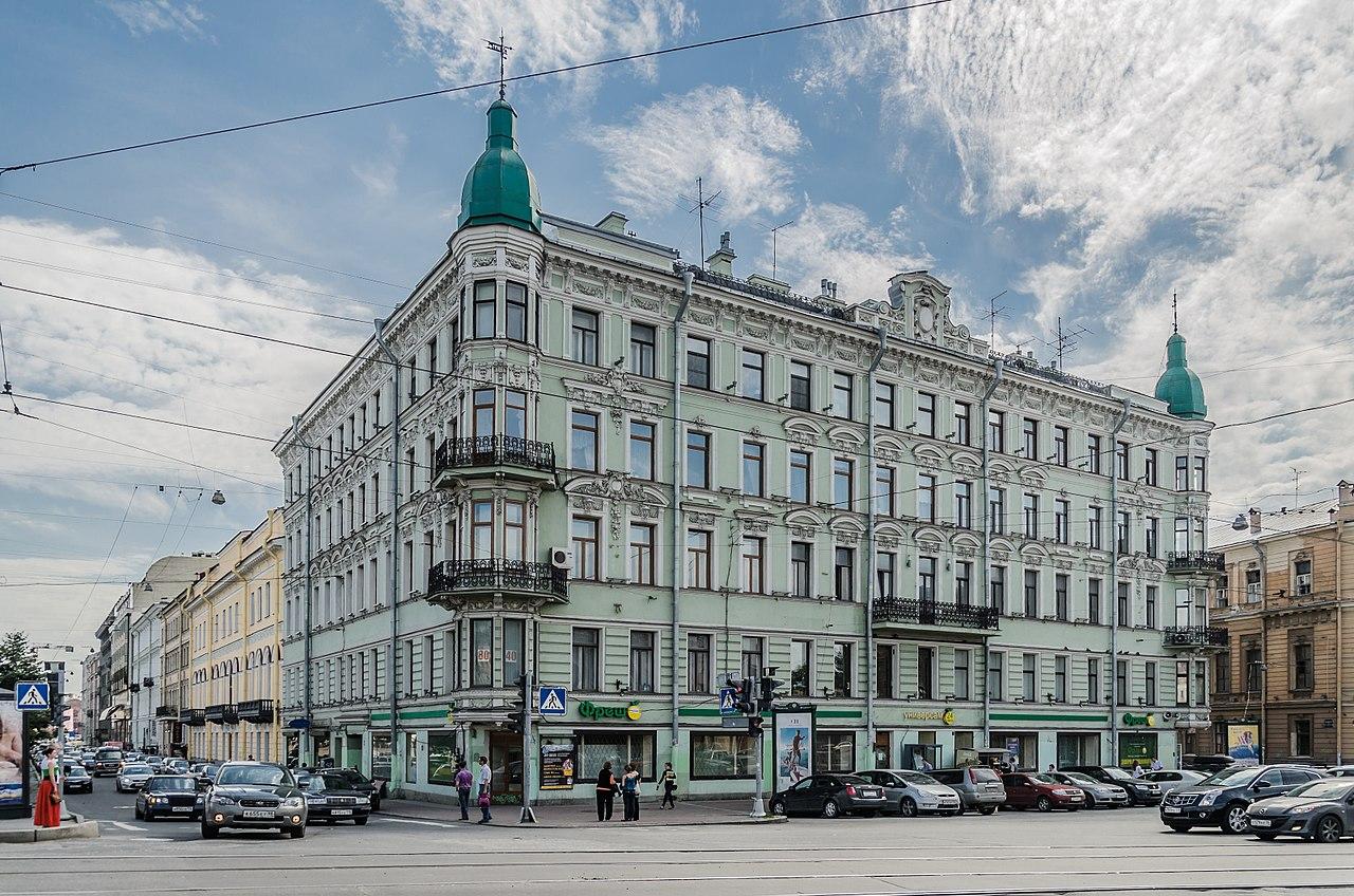 Доходный дом Фокина на Инженерной улице. Фото: Florstein (WikiPhotoSpace)