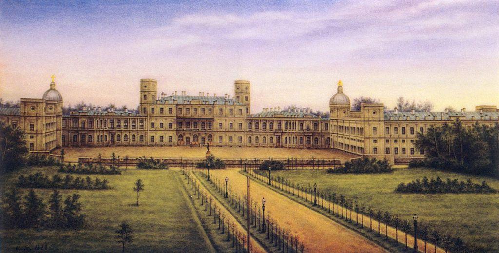 Гатчинский дворец. Роспись по фарфору, вторая половина XIX в. Автор: неизвестен