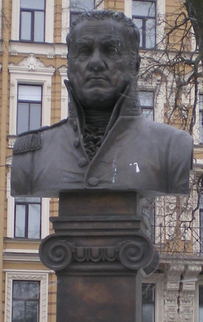 Бюст Джакомо Кваренги в сквере Манежной площади. Фото: Андрей!(Wikimedia Commons)
