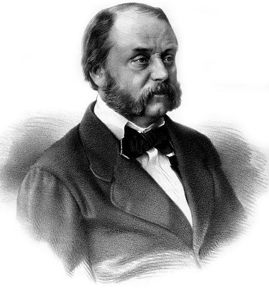 Портрет И. А. Гончарова. Гравюра П.Ф. Бореля 1860 г.  (Wikimedia Commons)