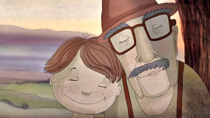 "Кадр из мультфильма ""Мой дедушка был вишней"" источник фото: http://www.tochkadostupa.spb.ru/events/movie/tochka3.html"