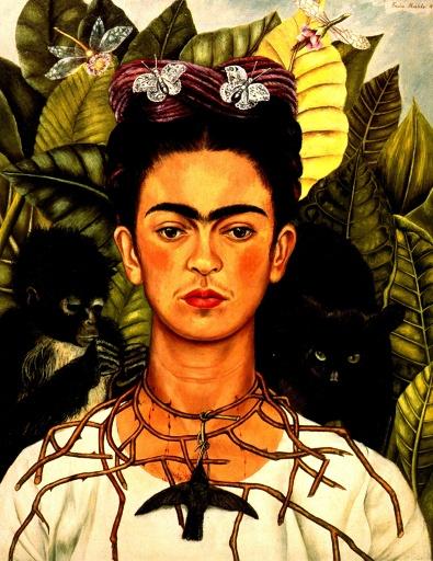 Автопортрет Фриды Кало с терновым венцом и колибри 1940 г., источник фото: http://photoshare.ru