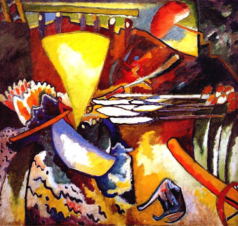 В. Кандинский «Импровизация 11» 1910 г.., Русский музей, СПб, источник фото:  http://v-kandinsky.ru/vasilij-kandinskij-improvizaciya-11/
