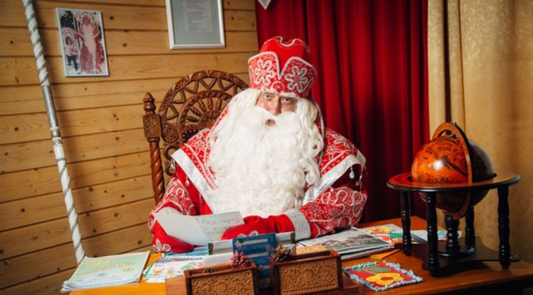 Дед Мороз в своей резиденции в в Великом Устюге, источник фото: https://baltika.fm/news/88820