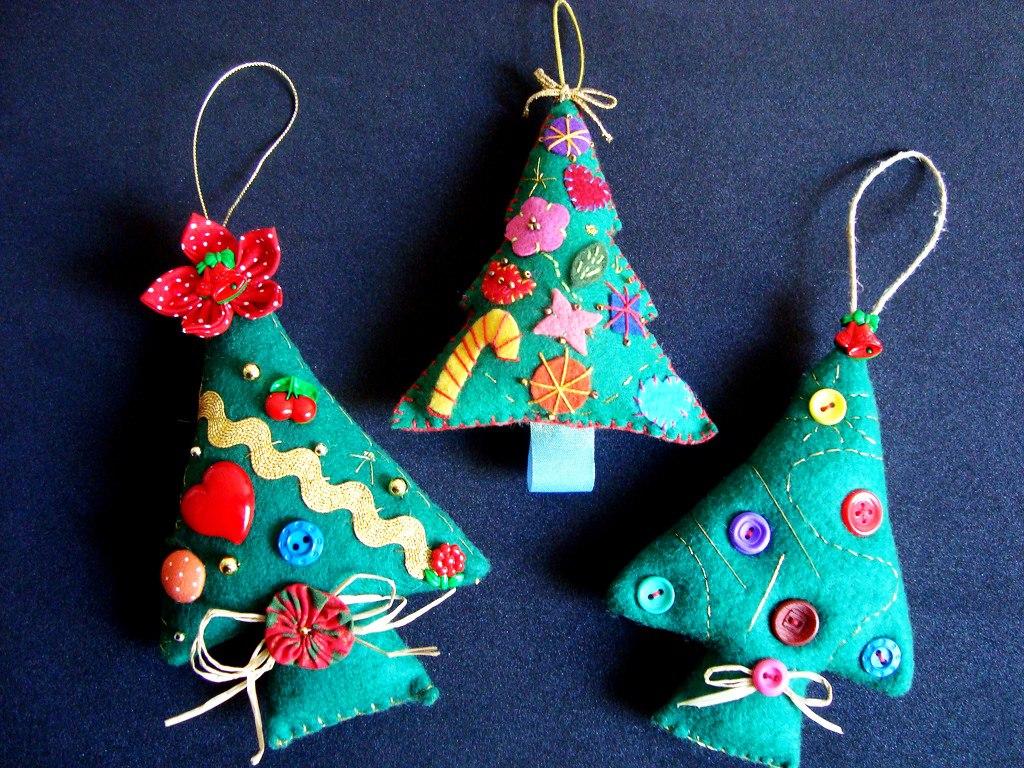 Игрушки новогодние игрушки на елку своими руками 41