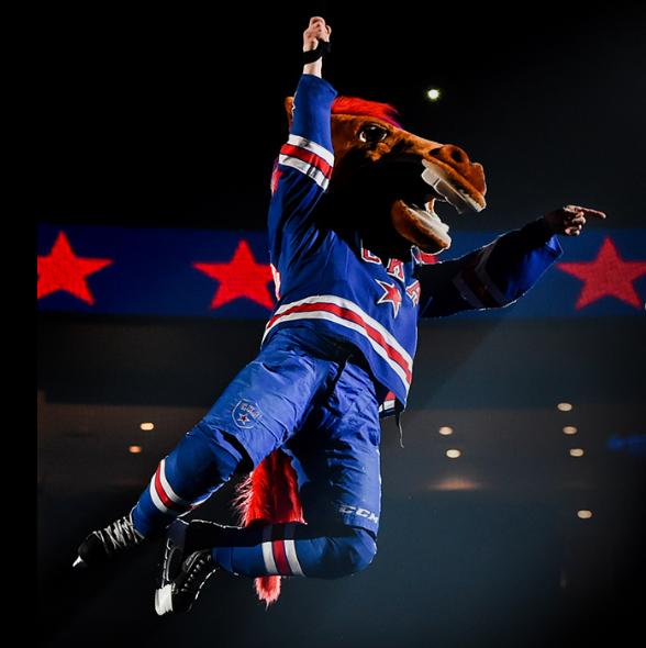 Конь-Огонь — талисман хоккейного клуба СКА
