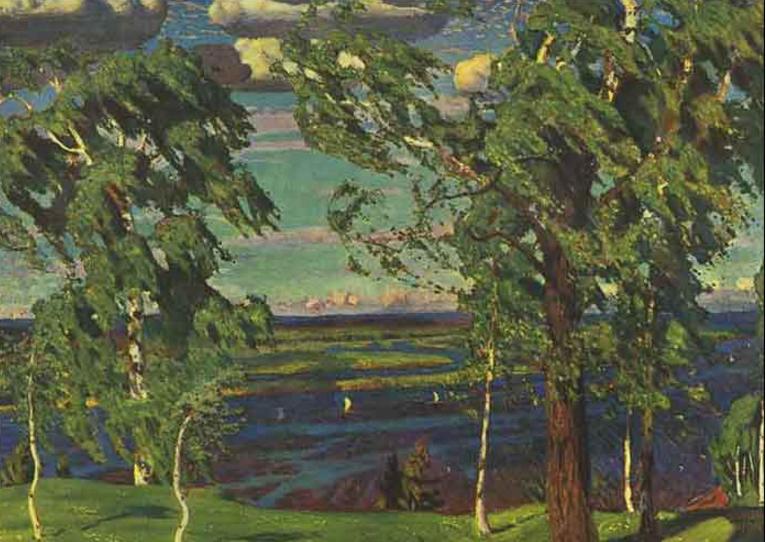 А. А. Рылов. Зеленый шум. 1904. Холст, масло. ГРМ