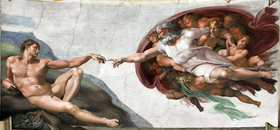 Сотворение Адама. Микеланджело, источник фото: pixabay.com