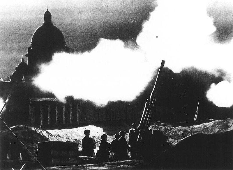 Anti aircraft Leningrad 1941, источник фото: Wikimedia Commons