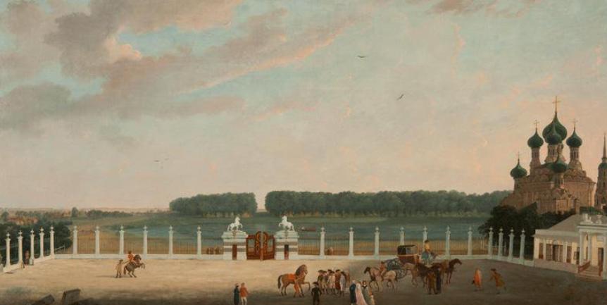 Жерар Делабарт. Вид с балкона Останкинского дворца под Москвой. 1798