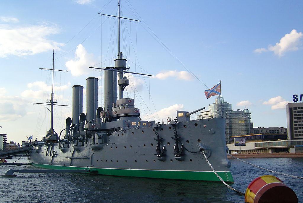 "Крейсер ""Аврора"". Фото: Vitaly V. Kuzmin (Wikimedia Commons)"