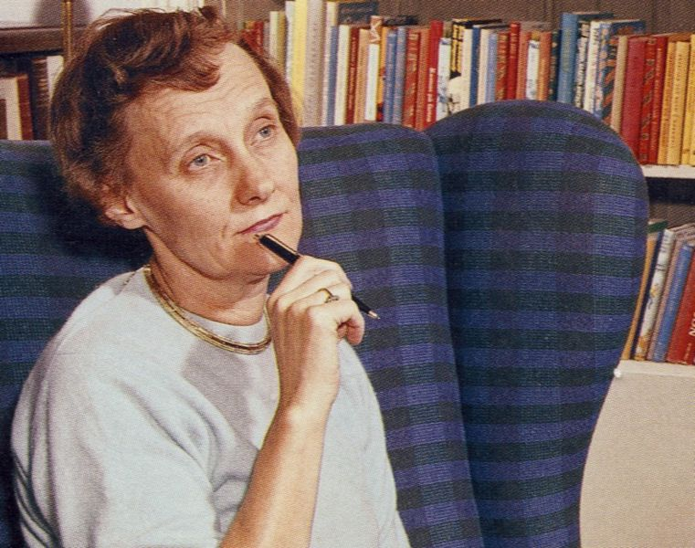 Astrid Lindgren omkring 1960 (Wikimedia Commons)