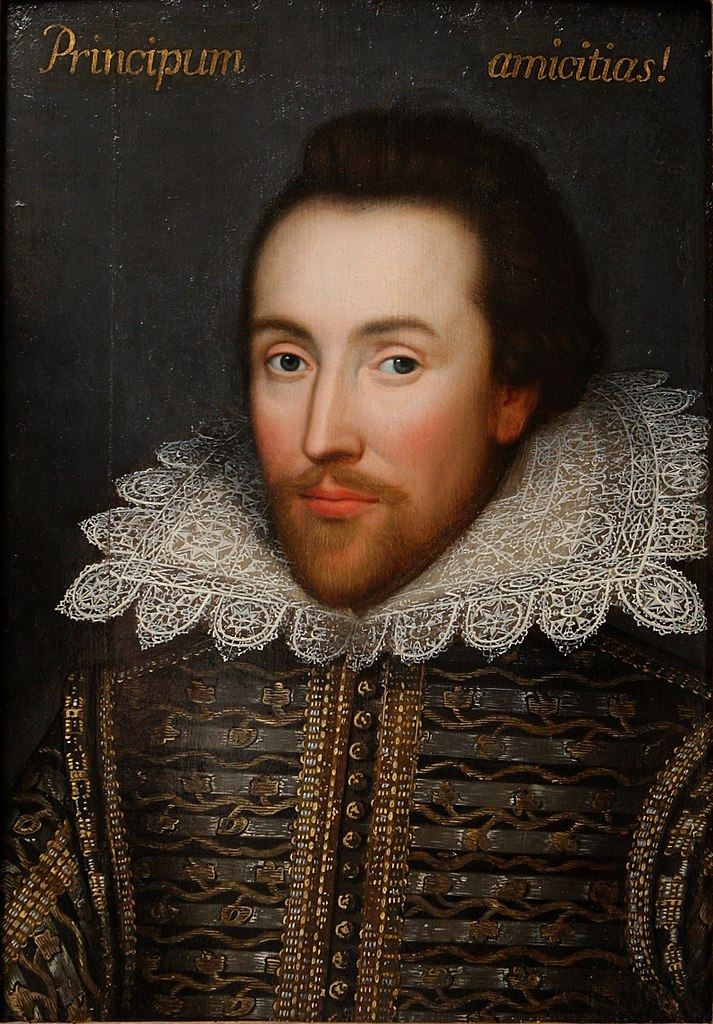 Cobbe portrait of Shakespeare. From Wikimedia Commons