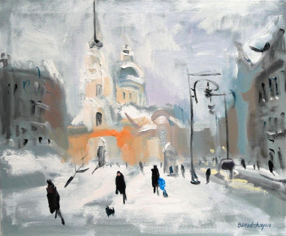 """Выставка живописи Светланы Брезицкой — """"Впечатления о любимом городе"""""""