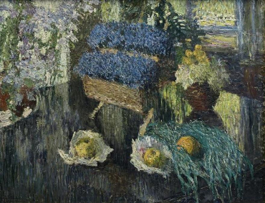 Грабарь И. Э. Цветы и фрукты на рояле, 1904 г. Русский музей