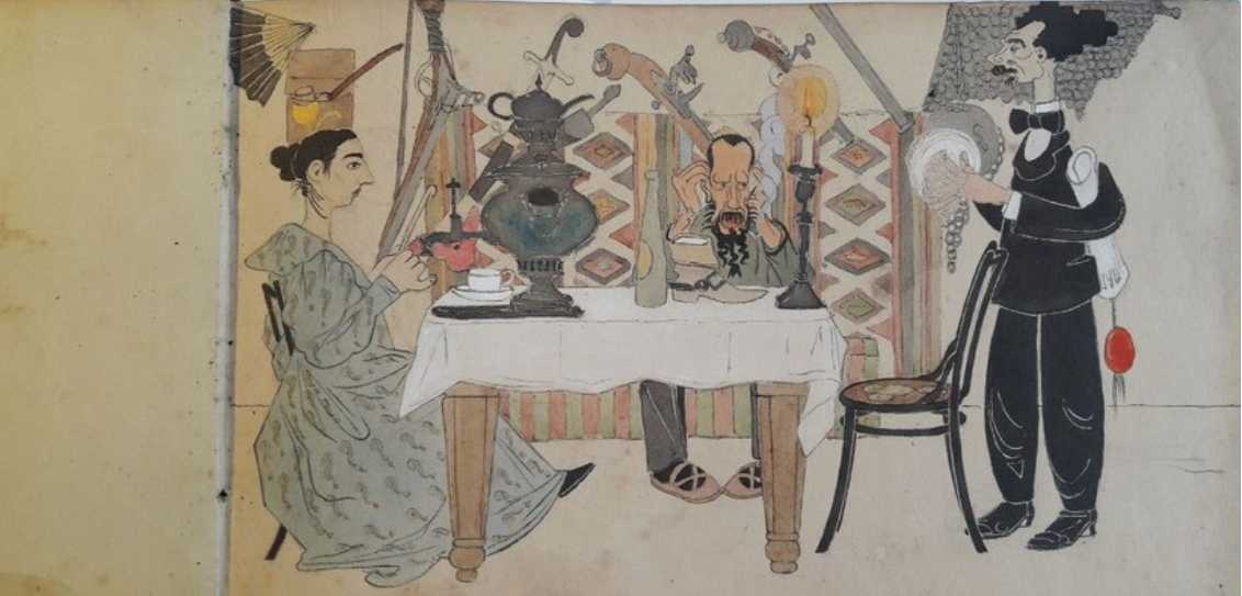 Выставка к 155-летию со дня рождения карикатуриста П. Е. Щербова