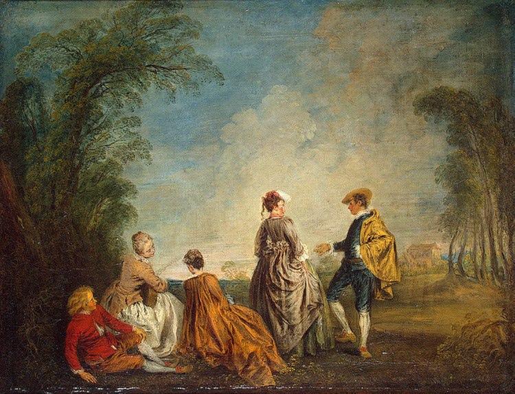 Антуан Ватто. Затруднительное предложение. Франция, 1715 – 1716 гг. (Коллекция Эрмитажа)