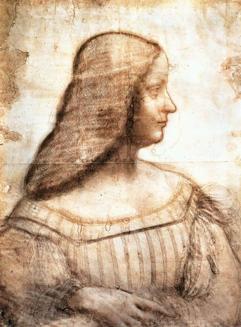 Изабелла д΄Эсте Гонзага. Эскиз к портрету. Автор Леонардо да Винчи. Источник: https://ru.wikipedia.org/