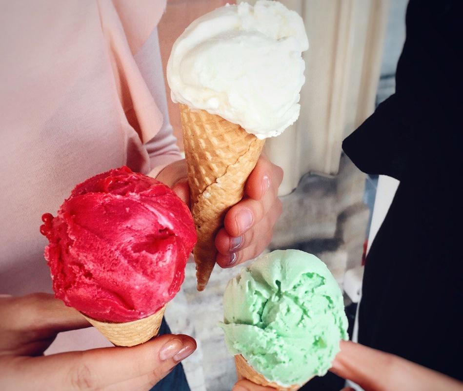 Разноцветное мороженое. Jamie's Italian Russia