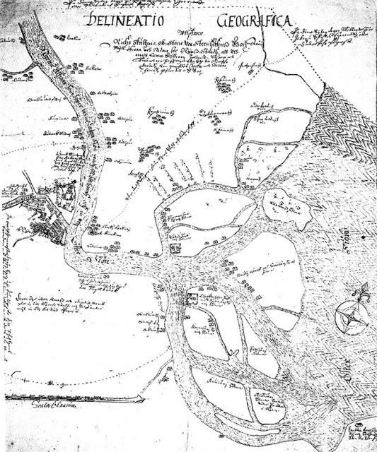 Карта Эрика Нилссона Аспегреена 1643 г.