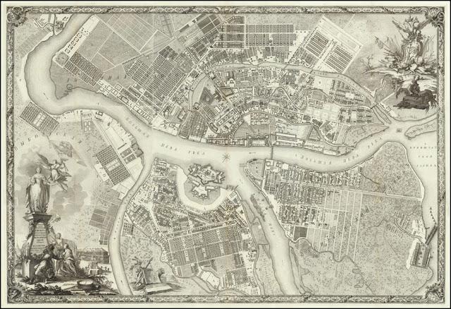 Разбивка и привязка зданий Петербурга при Петре I