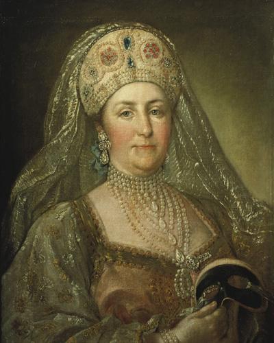 Портрет Екатерины II в русском наряде кисти неизвестного художника. (Wikimedia Commons)