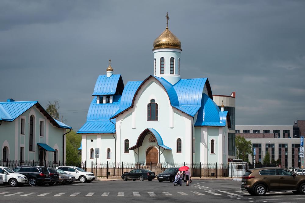 Храм Святого Апостола Андрея Первозванного на Заневском проспекте май 2017 г.