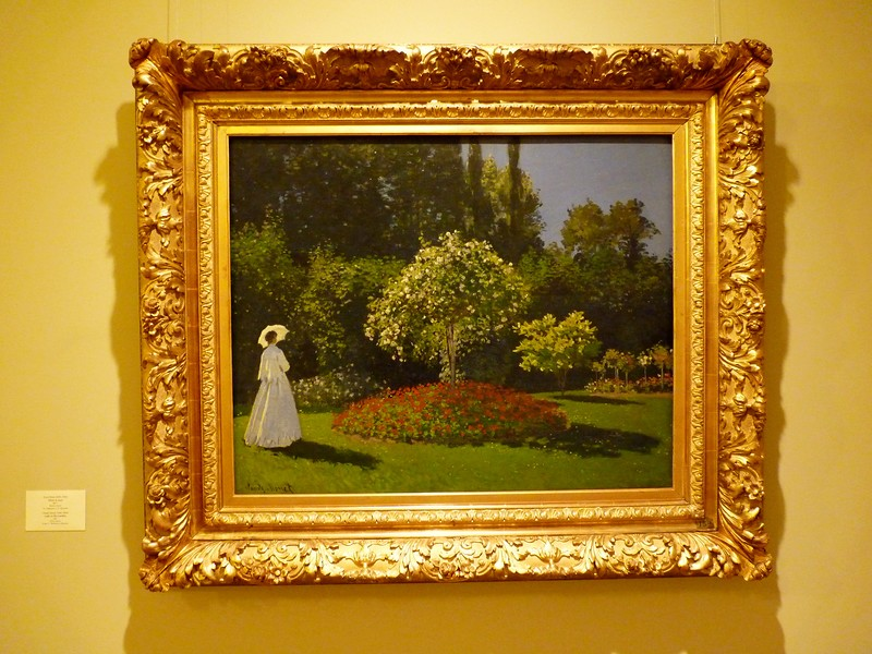 """Дама в саду."", Клод Моне (1867), источник фото: http://art-links.livejournal.com/2537986.html"