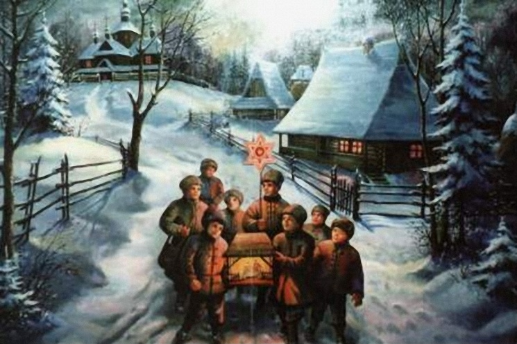 Колядники, источник фото: http://www.wonderfulnature.ru/statji/Christmas_tradition.php