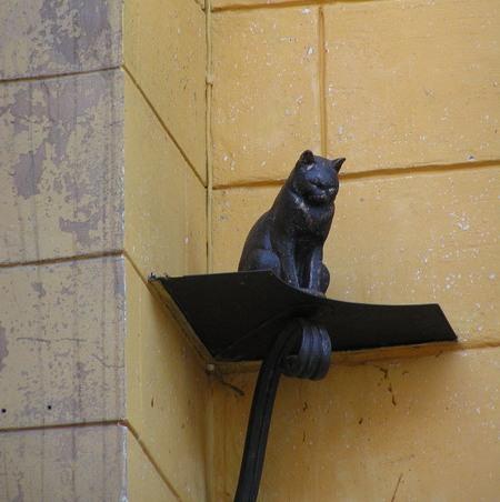 Памятник коту Елисею. Наталья Малышева (собственное фото)