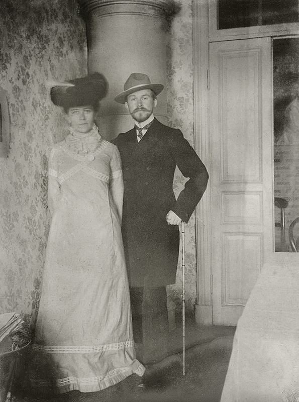 Кустодиев Борис c женой Юлией. 1903 г. Источник: Wikimedia Commons