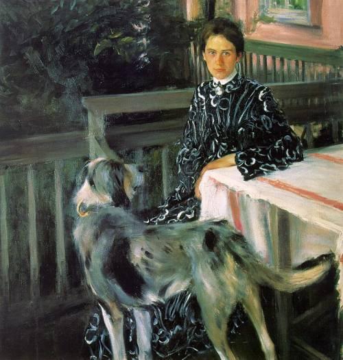 Портрет Ю. Кустодиевой, жены художника 1903 г. Источник: ГРМ