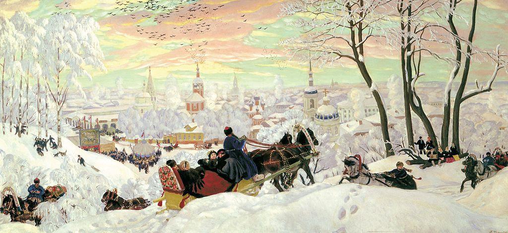 Борис Михайлович Кустодиев. Масленица. 1903 г. Истчочник: ГРМ